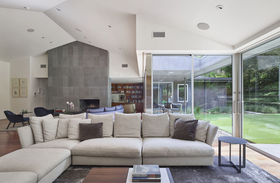 Open plan existing modern home