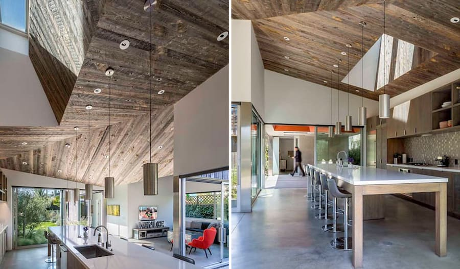 Modern-pitched-roofs-flower-interior